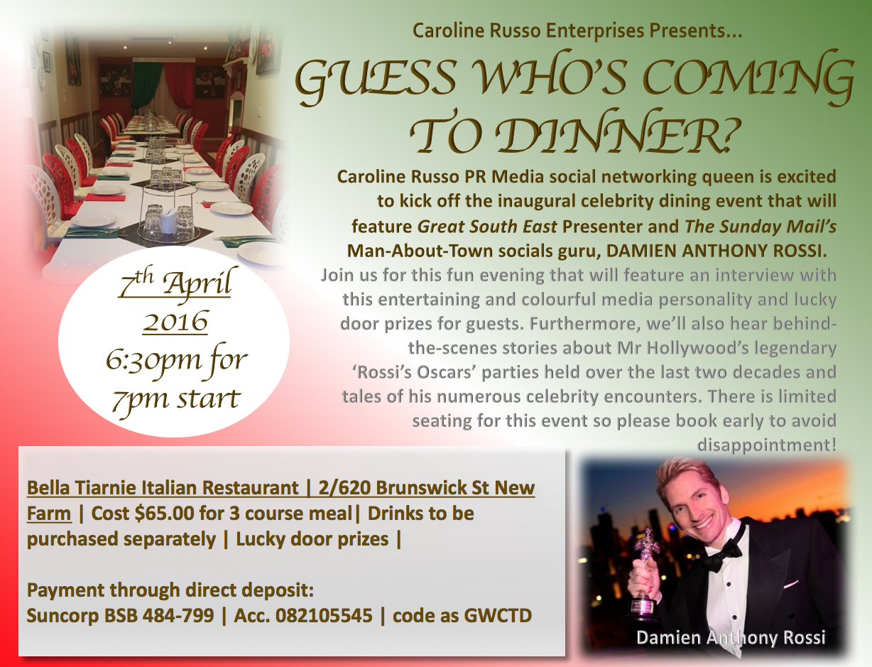 guess who's guess dinner april 2016